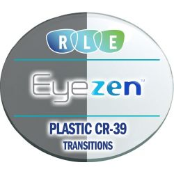 Eyezen + Single Vision Transitions Plastic CR39 Lenses