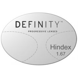 Progressive Clear High Index 1.67 Lenses with Crizal Sapphire AR Coating by Essilor Definity