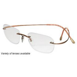Silhouette Rimless 7799 Titan Minimal Art The Must Collection Eyeglasses Matte Copper (6069)
