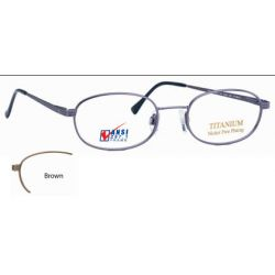Titmus EXT 8 with Side Shields -Titanium Collection Eyeglasses Brown (BRN)