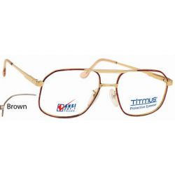 Titmus PC 250A with Side Shields -Premier Collection Eyeglasses Brown (BRN)