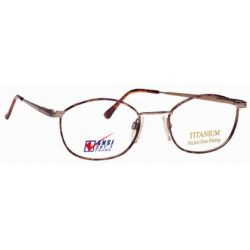 Titmus EXT 5 with Side Shields Titanium Collection Eyeglasses Light Brown (BRN)
