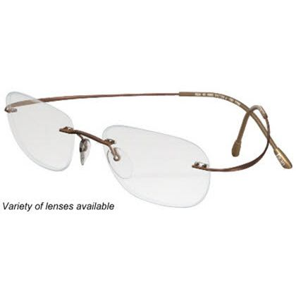 Silhouette Rimless 7799 Titan Minimal Art The Must Collection Eyeglasses Shiny Cocoa Brown (6062)