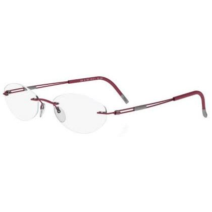 Silhouette Rimless 5227 Titan Next Generation Eyeglasses Red Matte (6059)