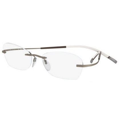 Silhouette Rimless 7581 Titan Minimal Art The Icon Eyeglasses Gold Matte (6051)