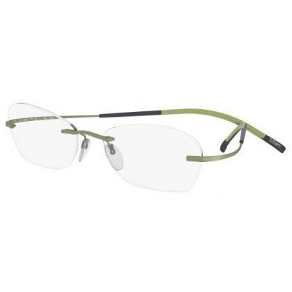 Silhouette Rimless 7581 Titan Minimal Art The Icon Eyeglasses Green Matte (6053)