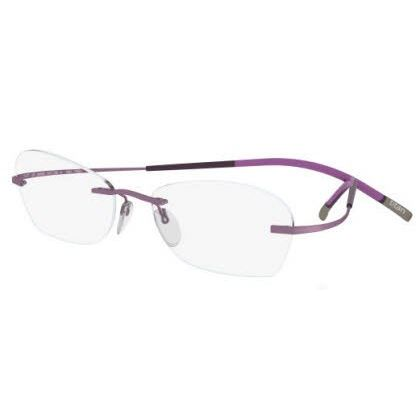 Silhouette Rimless 7581 Titan Minimal Art The Icon Eyeglasses Rose Matte (6054)