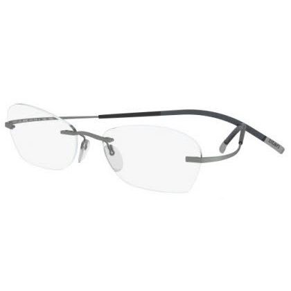 Silhouette Rimless 7581 Titan Minimal Art The Icon Eyeglasses Silver Matte (6061)