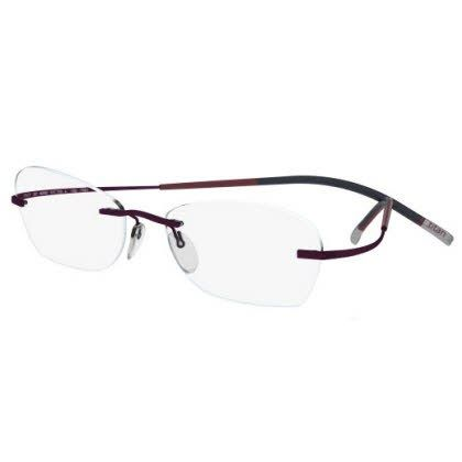 Silhouette Rimless 7581 Titan Minimal Art The Icon Eyeglasses Brown (6062)