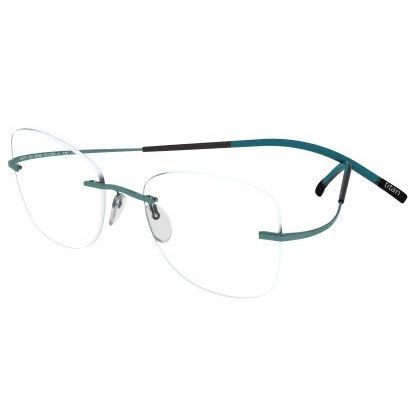 Silhouette Rimless 7581 Titan Minimal Art The Icon Eyeglasses Petrol Matte (6075)