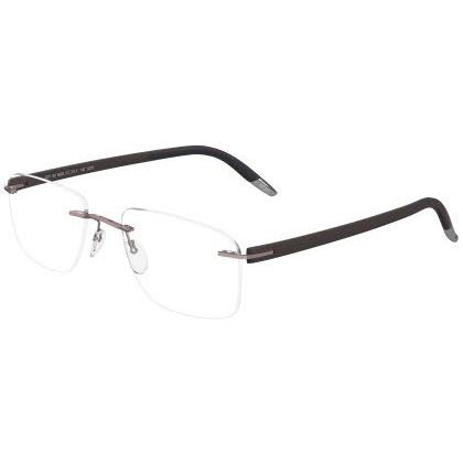 Silhouette Rimless 5379 SPX Signia Eyeglasses Deep Brown (6059)