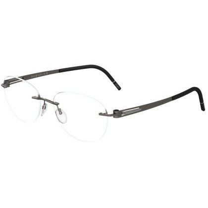 Silhouette Rimless 5369 Lite Twist Eyeglasses Gray Fox Silver (6060)