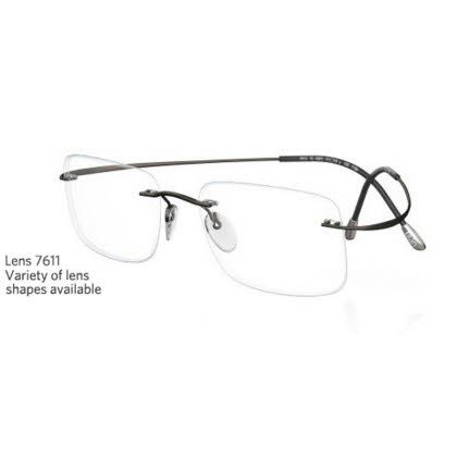 Silhouette Rimless 7799 Titan Minimal Art The Must Collection Eyeglasses Matte Fossil (6107)