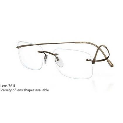 Silhouette Rimless 7799 Titan Minimal Art The Must Collection Eyeglasses Shiny Pinecone (6102)