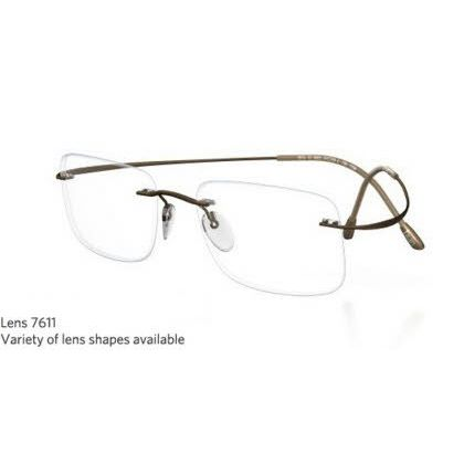 Silhouette Rimless 7799 Titan Minimal Art The Must Collection Eyeglasses Matte Silver Gray (6061)
