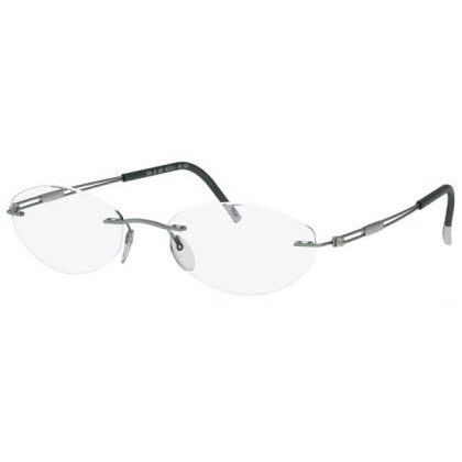 Silhouette Rimless 5227 Titan Next Generation Eyeglasses Green Matte (6056)