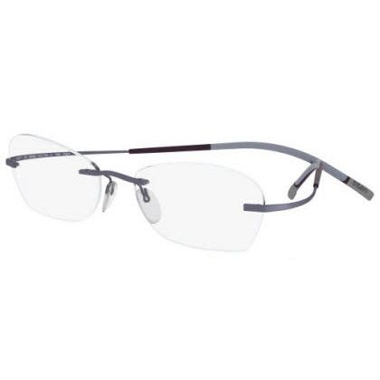 Silhouette Rimless 7581 Titan Minimal Art The Icon Eyeglasses Violet Matte (6057)