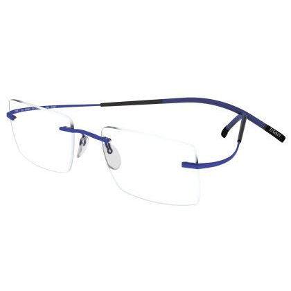 Silhouette Rimless 7581 Titan Minimal Art The Icon Eyeglasses Blue Matte (6076)