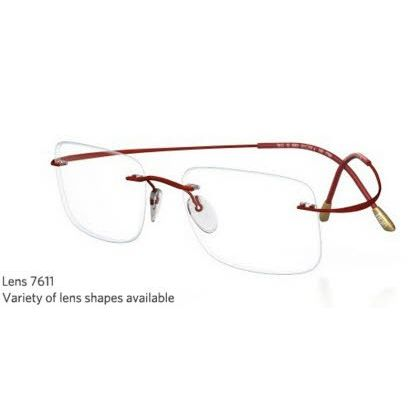 Silhouette Rimless 7799 Titan Minimal Art The Must Collection Eyeglasses Shiny Wine (6066)