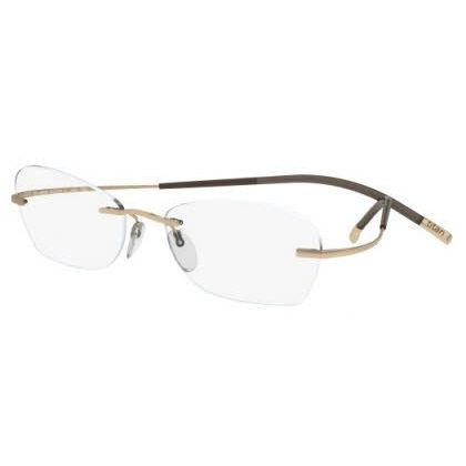 Silhouette Rimless 7581 Titan Minimal Art The Icon Eyeglasses Gold (6050)