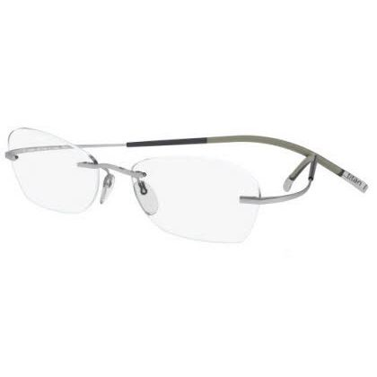 Silhouette Rimless 7581 Titan Minimal Art The Icon Eyeglasses Silver (6059)