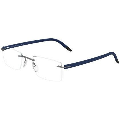 Silhouette Rimless 5379 SPX Signia Eyeglasses Royal Blue (6063)