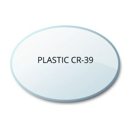 Non-Prescription Clear Plastic CR39 Lenses