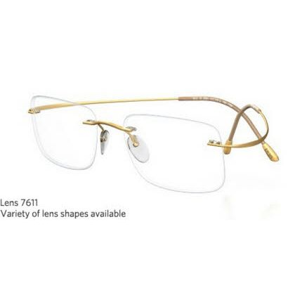 Silhouette Rimless 7799 Titan Minimal Art The Must Collection Eyeglasses Shiny True Gold (6051)