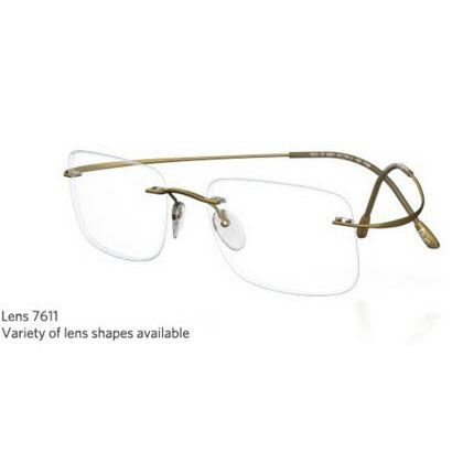 Silhouette Rimless 7799 Titan Minimal Art The Must Collection Eyeglasses Matte Gold (6073)