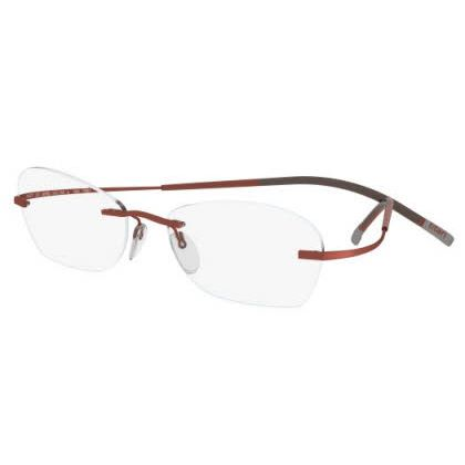 Silhouette Rimless 7581 Titan Minimal Art The Icon Eyeglasses Orange Matte (6052)