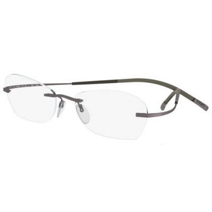 Silhouette Rimless 7581 Titan Minimal Art The Icon Eyeglasses Brown Matte (6055)
