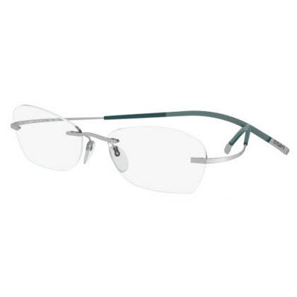 Silhouette Rimless 7581 Titan Minimal Art The Icon Eyeglasses Silver Matte (6060)