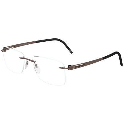 Silhouette Rimless 5369 Lite Twist Eyeglasses Cool Taupe Brown (6052)