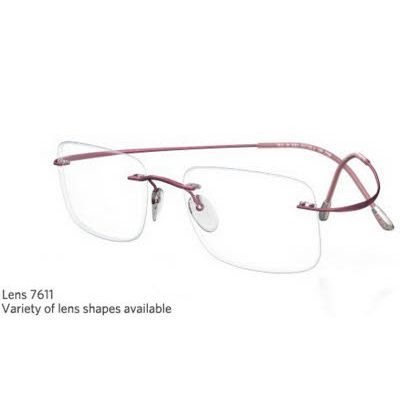 Silhouette Rimless 7799 Titan Minimal Art The Must Collection Eyeglasses Shiny Mauve Shadow (6057)