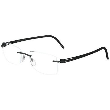 Silhouette Rimless 5369 Lite Twist Eyeglasses Black Shadow Black (6059)