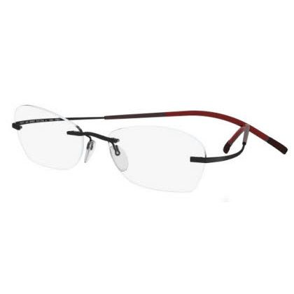 Silhouette Rimless 7581 Titan Minimal Art The Icon Eyeglasses Black Matte (6058)