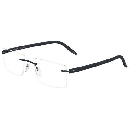 Silhouette Rimless 5379 SPX Signia Eyeglasses Black Night (6061)