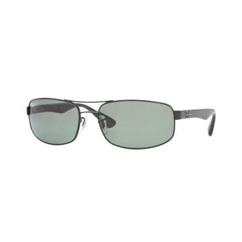 6243856369 Ray-Ban RB3445 Sunglasses Black   Crystal Green Polarized Lens (002 58)