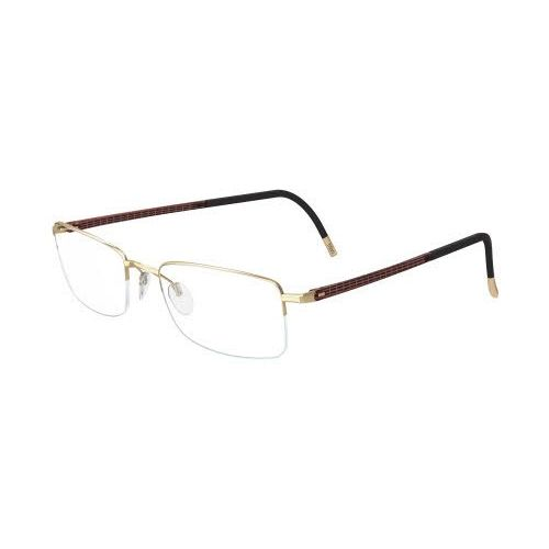 118740b3a03 Silhouette 5428 Illusion Nylor Eyeglasses Gold Brown (6052)
